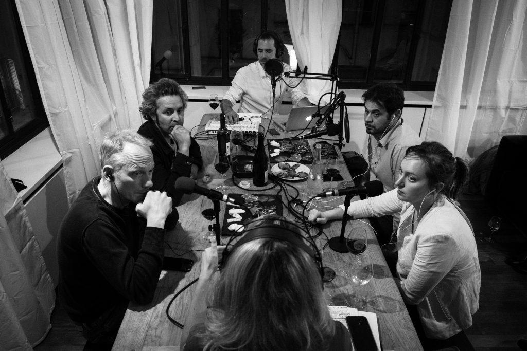 Les intervenants pendant notre podcast vin la Terre à Boire.