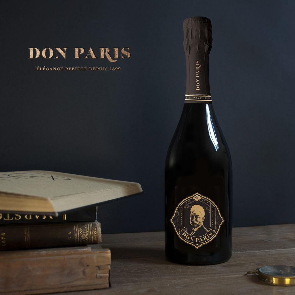 Photo d'une bouteille de Don Paris, Un 100% Vermentinu vinifié à Montreuil.